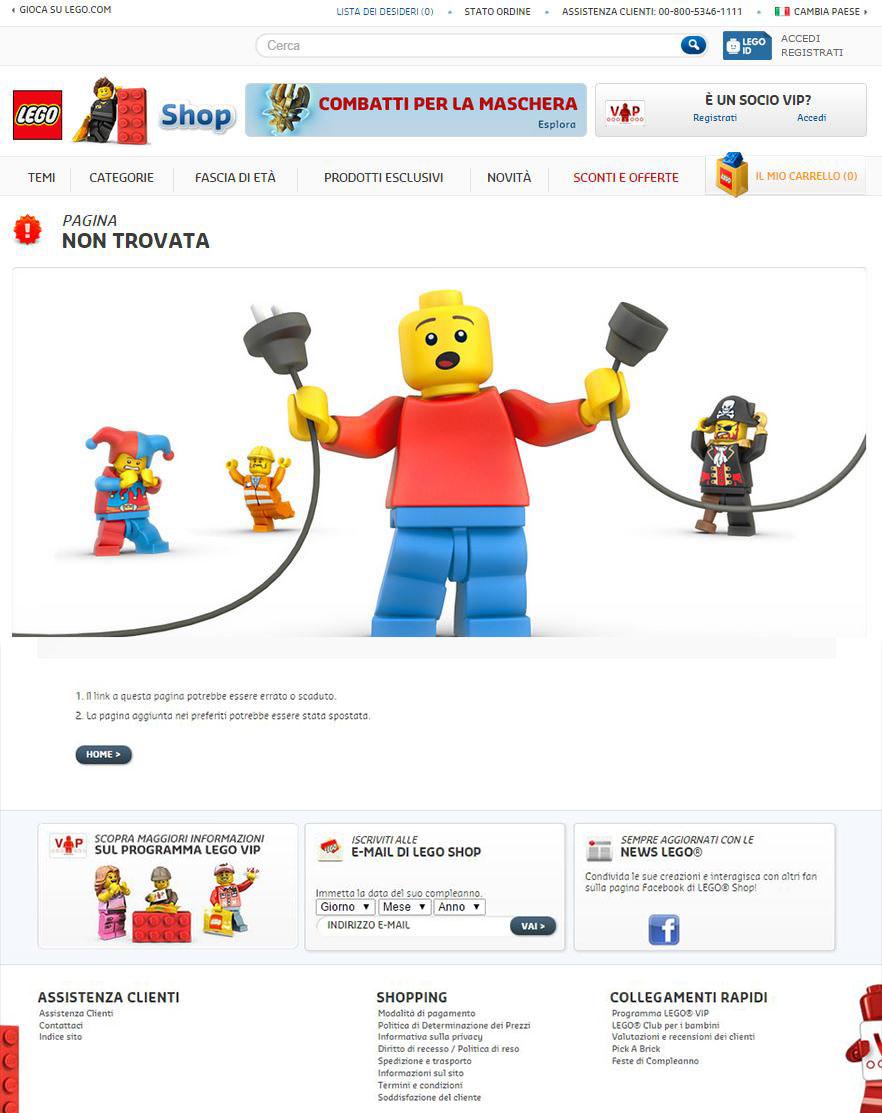 Pagina 404 di Lego