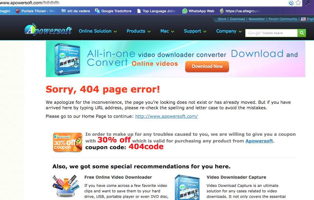 pagina 404 apowersoft