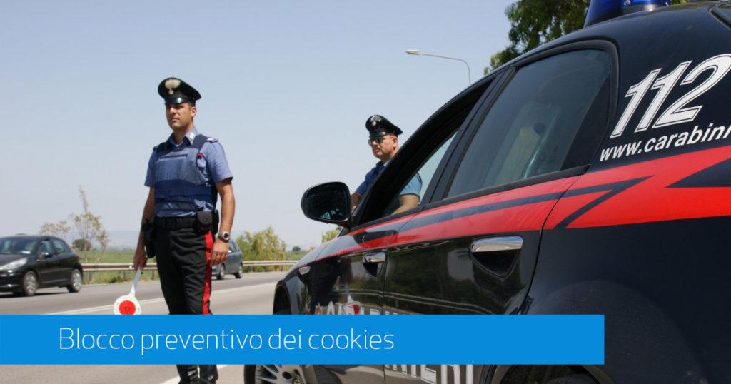 blocco preventivo dei cookies