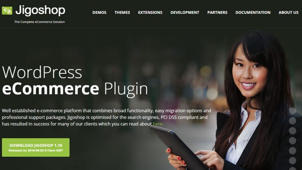 Jigoshop cms piattaforma ecommerce open-source per WP