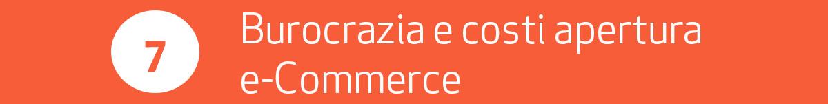 burocrazia e costi apertura ecommerce