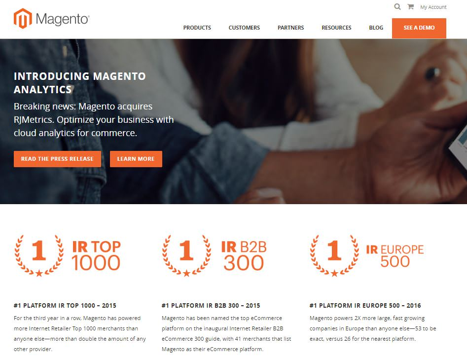 magento piattaforma ecommerce open-source