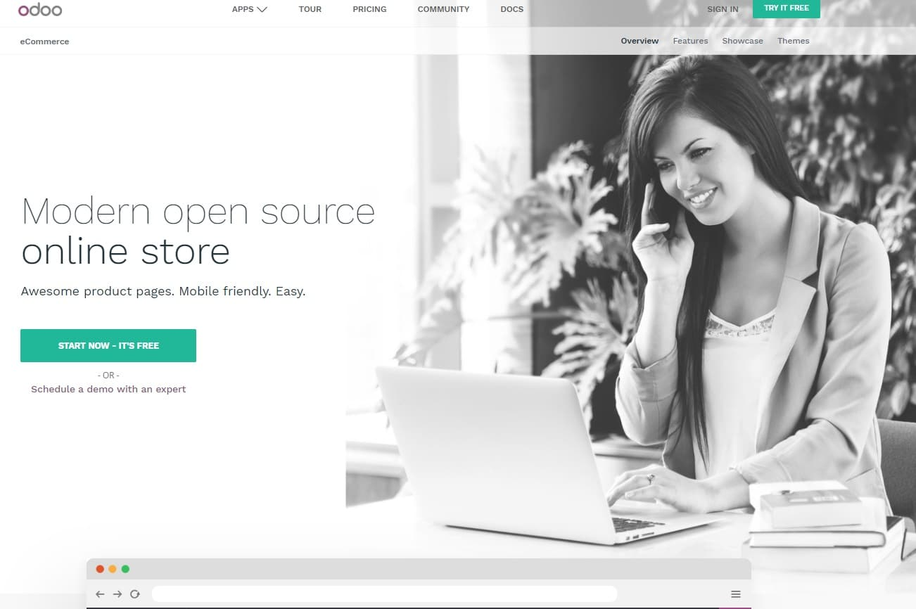 odoo ecommerce open source
