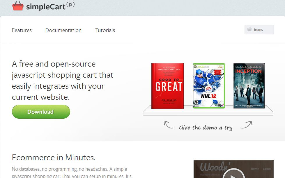 simplecart javascript ecommerce open source
