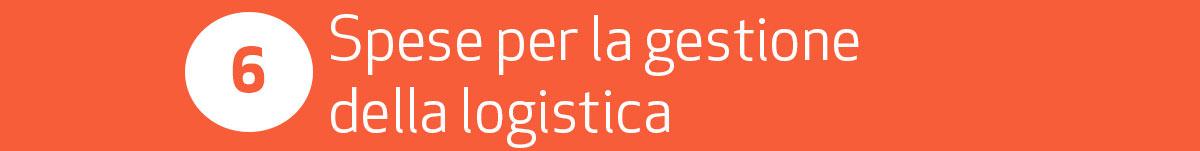 spese per la gestione logistica e-commere