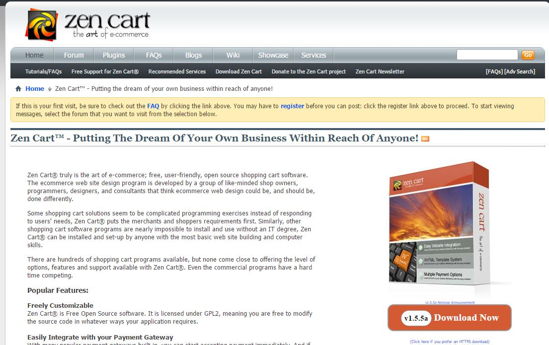 Zen-Cart Piattaforma Ecommerce Open Source