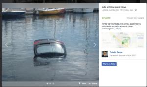 visualizzazione prodotto in facebook marketplace
