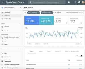 analisi sito search console google